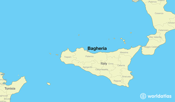map showing the location of Bagheria