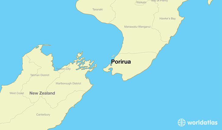 Where Is New Zealand In World Map.Where Is Porirua New Zealand Porirua Wellington Map