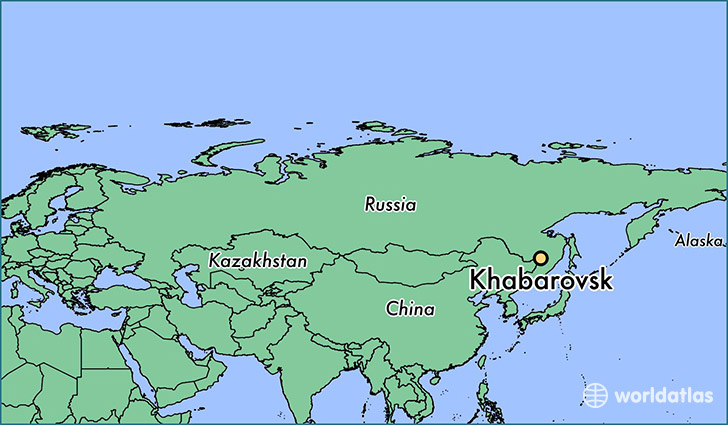 map showing the location of Khabarovsk