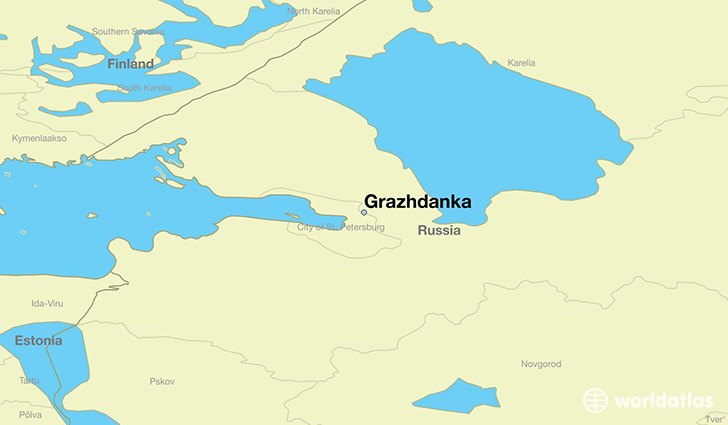 map showing the location of Grazhdanka