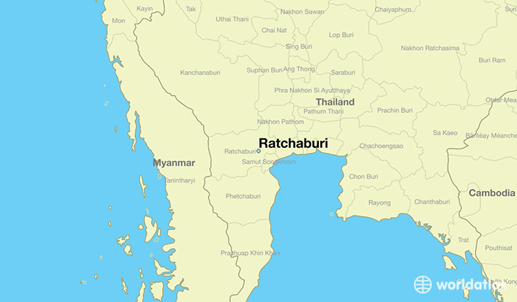 map showing the location of Ratchaburi