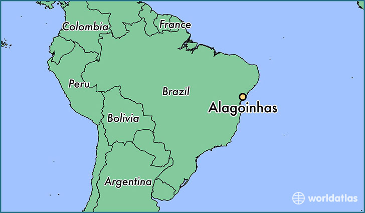 map showing the location of Alagoinhas
