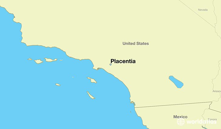 map showing the location of Placentia