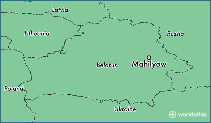 map showing the location of Mahilyow