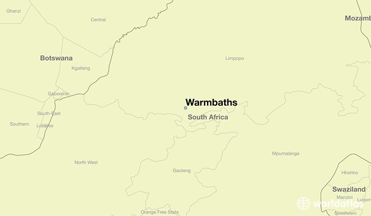 map showing the location of Warmbaths