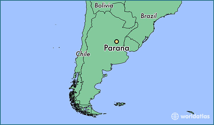 map showing the location of Parana