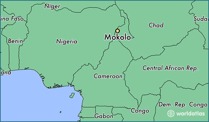 map showing the location of Mokolo