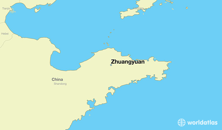 map showing the location of Zhuangyuan
