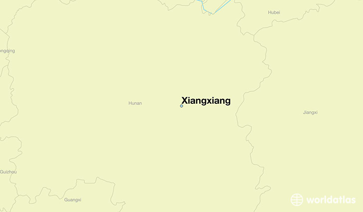 map showing the location of Xiangxiang