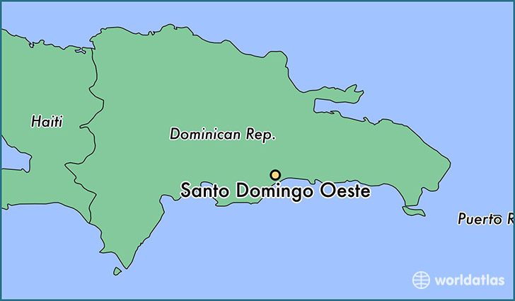 map showing the location of Santo Domingo Oeste