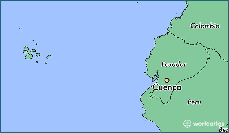 map showing the location of Cuenca