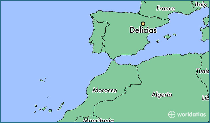map showing the location of Delicias