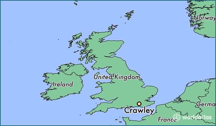 Where is Crawley England Crawley England Map WorldAtlascom
