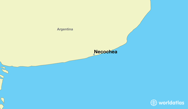 map showing the location of Necochea