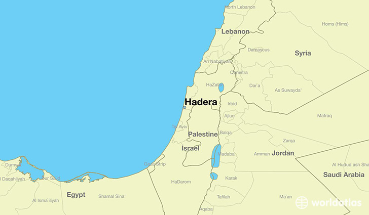 Where is Hadera Israel Hadera Haifa Map WorldAtlascom