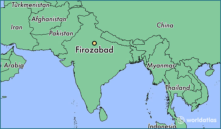 map showing the location of Firozabad