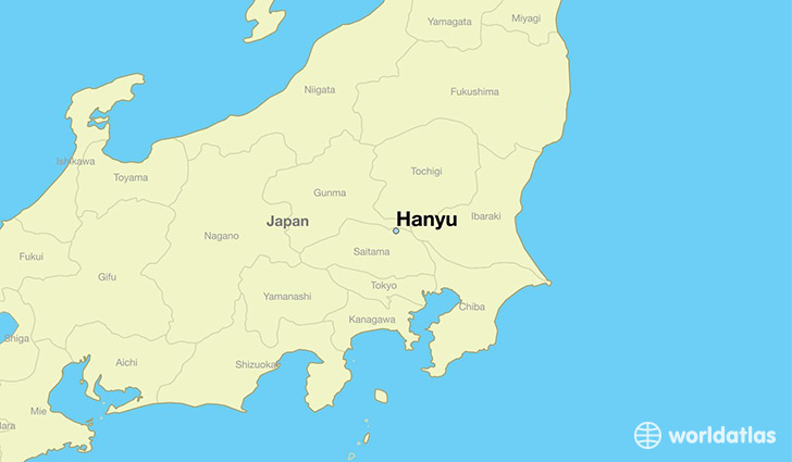 map showing the location of Hanyu
