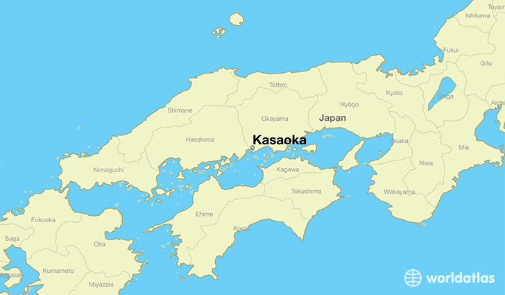 map showing the location of Kasaoka