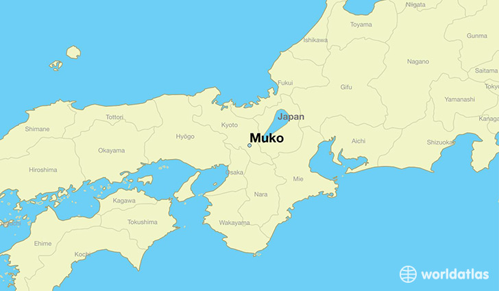 map showing the location of Muko