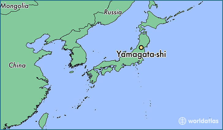 map showing the location of Yamagata-shi