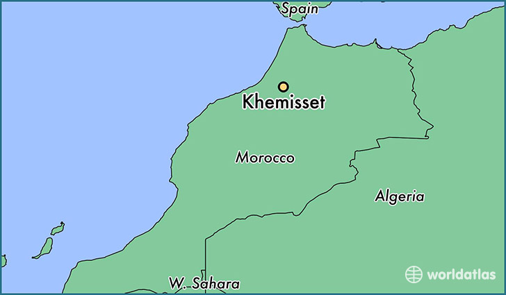 map showing the location of Khemisset