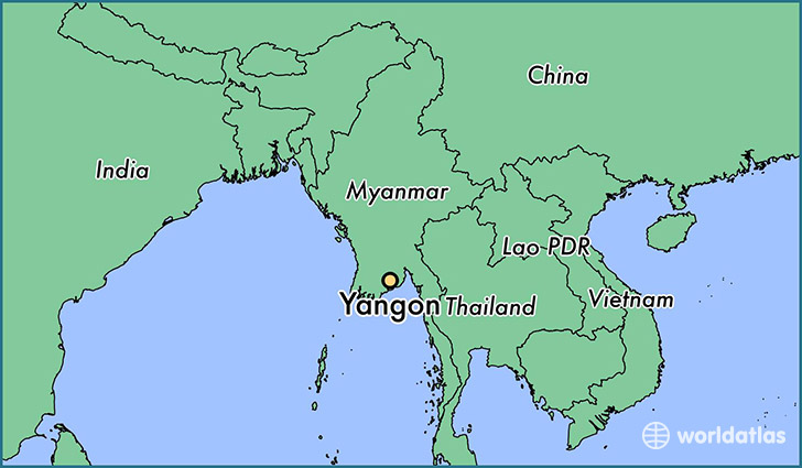 Where Is Rangoon Burma On A Map
