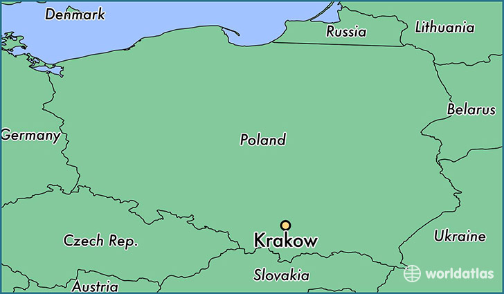 Where is Krakow Poland Krakow Lesser Poland Voivodeship Map
