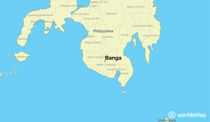 map showing the location of Banga