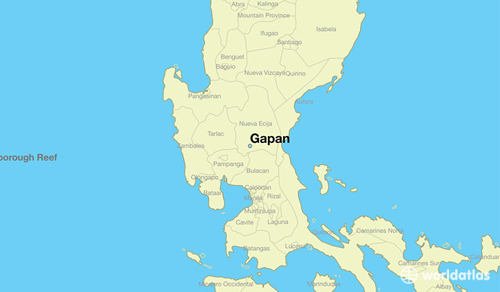 map showing the location of Gapan