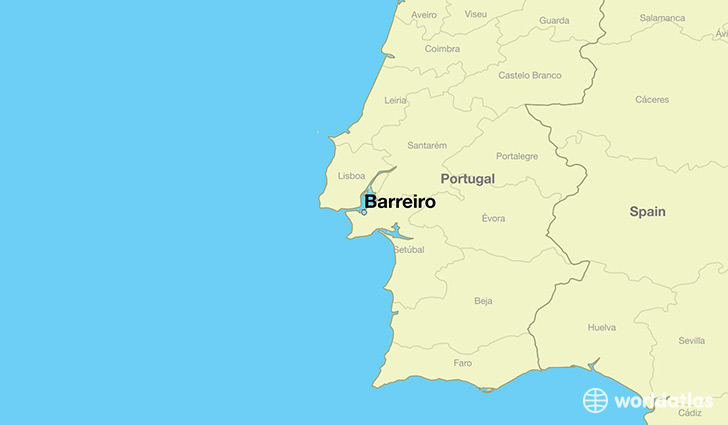 map showing the location of Barreiro