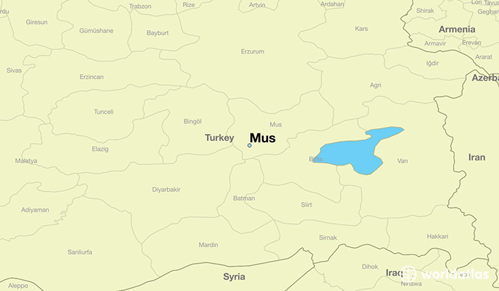 map showing the location of Mus