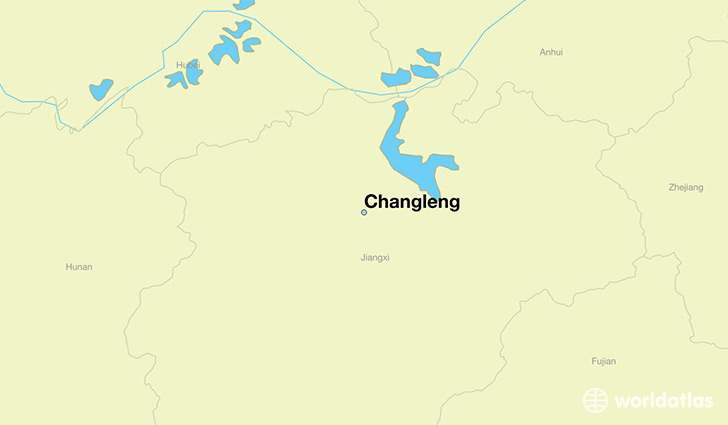 map showing the location of Changleng