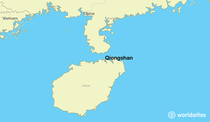 map showing the location of Qiongshan