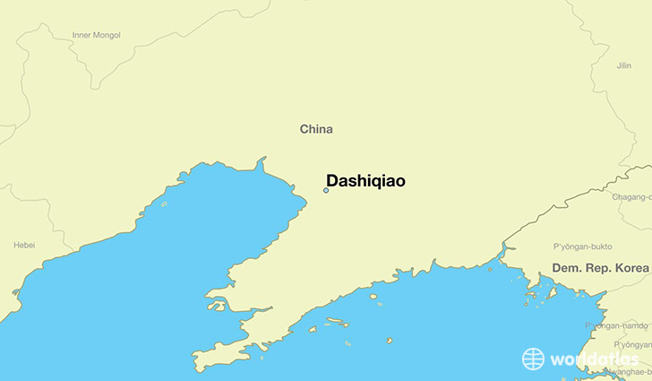 map showing the location of Dashiqiao