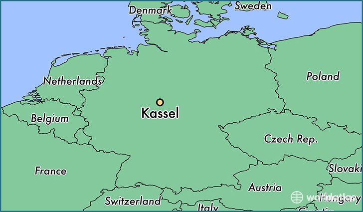 map showing the location of Kassel