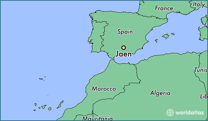map showing the location of Jaen