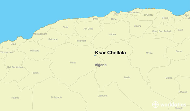 map showing the location of Ksar Chellala