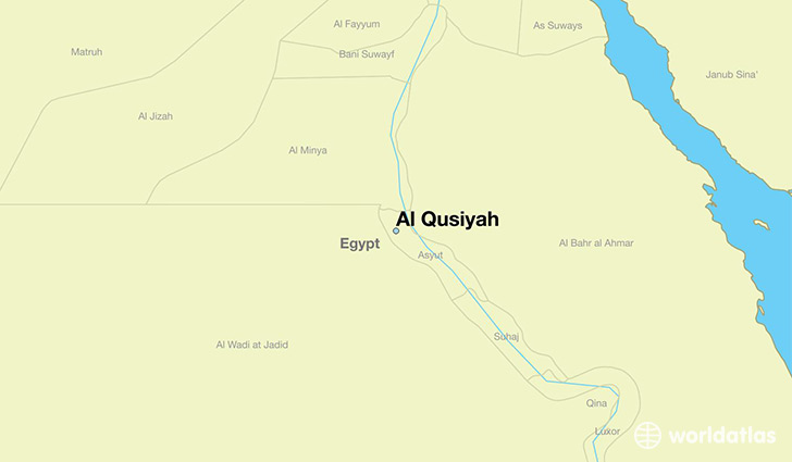 map showing the location of Al Qusiyah