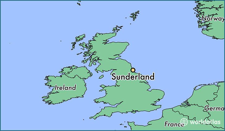 Where is Sunderland England Sunderland England Map WorldAtlascom