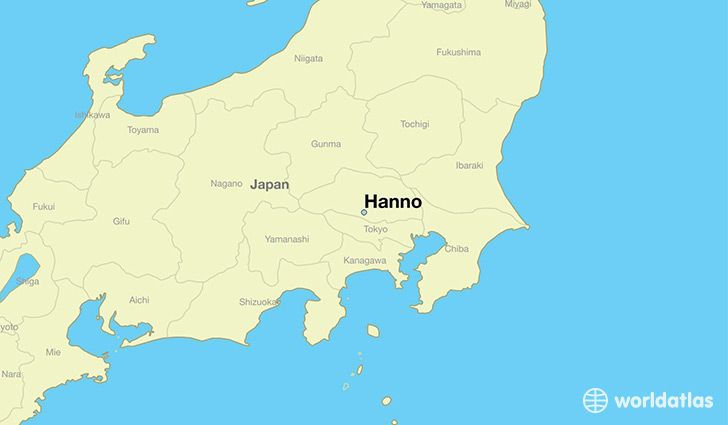 map showing the location of Hanno