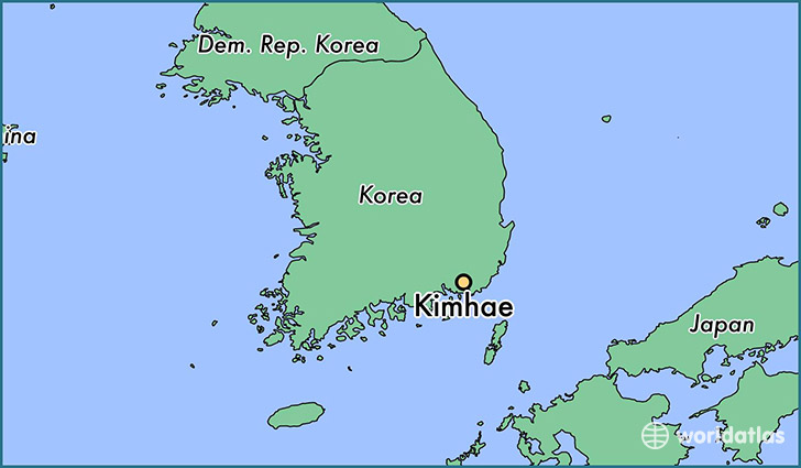 map showing the location of Kimhae