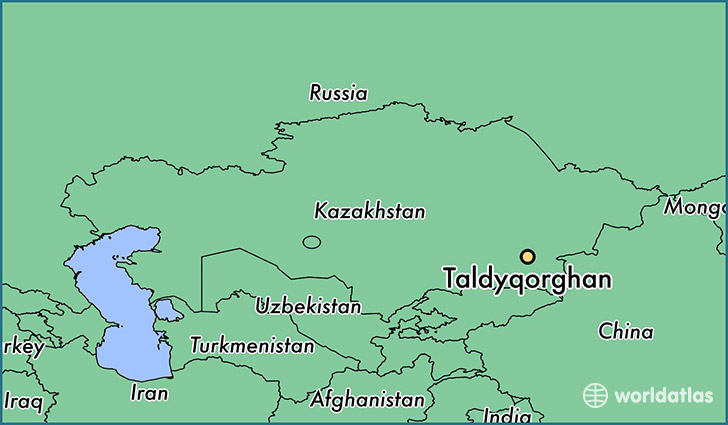 map showing the location of Taldyqorghan