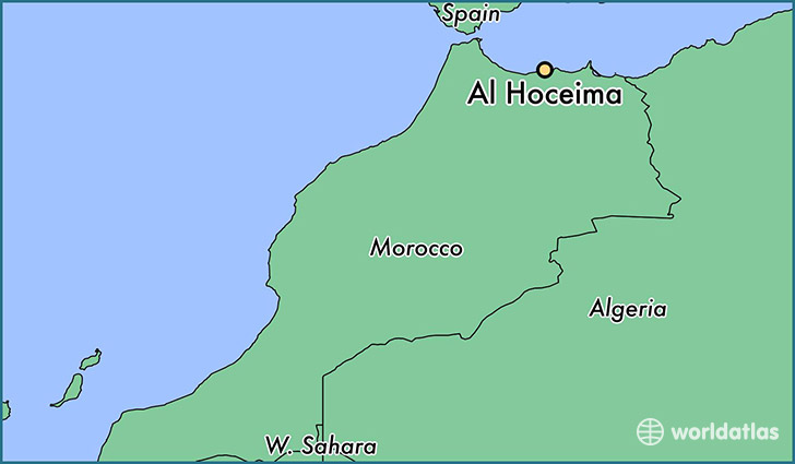 map showing the location of Al Hoceima