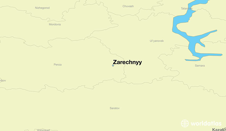 map showing the location of Zarechnyy
