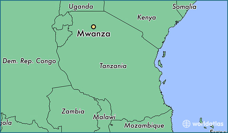 map showing the location of Mwanza