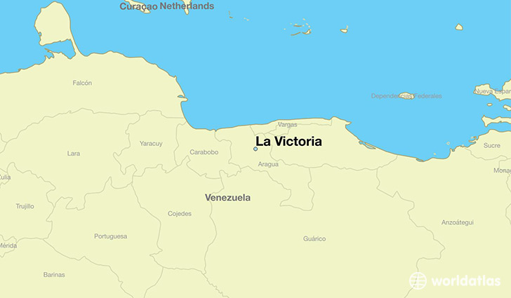 map showing the location of La Victoria