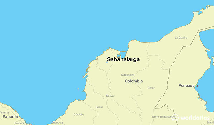 map showing the location of Sabanalarga
