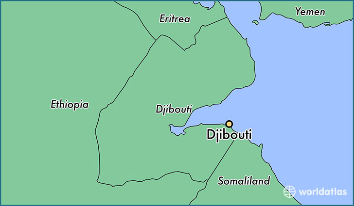 Dijibouti Map on
