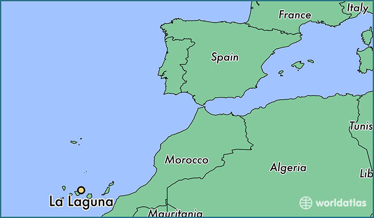 map showing the location of La Laguna