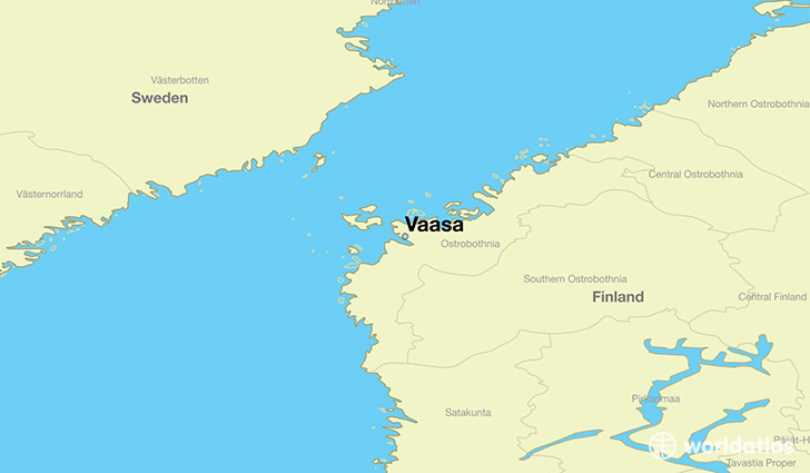 Where is Vaasa Finland Vaasa Ostrobothnia Map WorldAtlascom